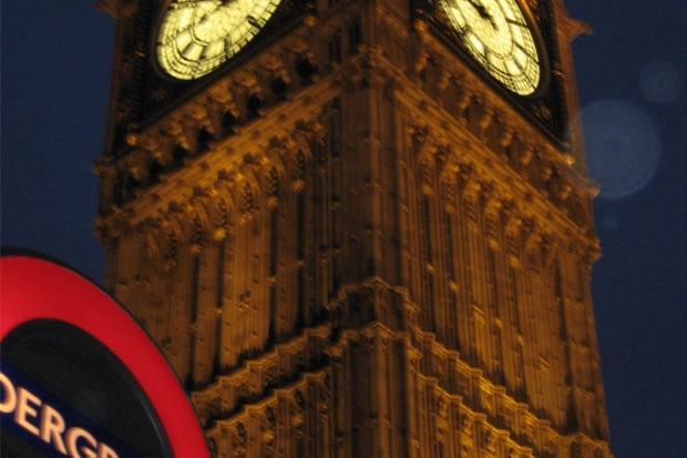 Londyński Underground + zegar Big Ben